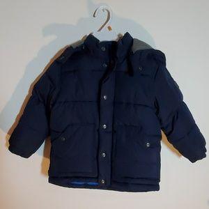 Boys 4T Navy Blue Puffer Coat